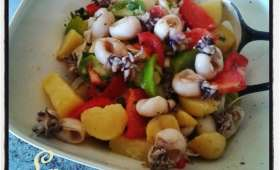 Salade de pommes de terre tiède de Noirmoutier aux supions à l'ail