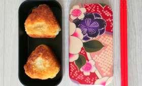 Onigiris au poulet pané