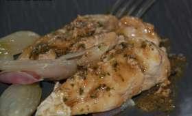Poulet au vinaigre et aux échalotes