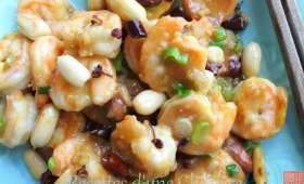 Crevettes Gong bao au poivre de Sichuan