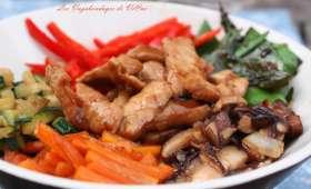 Bibimbap au porc
