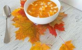 Soupe de courge, carottes et mimolette