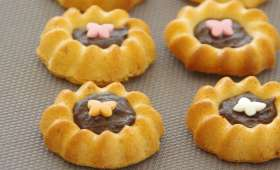 Biscuits de savoie aux ecorces de citron et chocolat