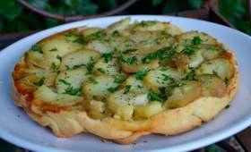 Tatin de pommes de terre au fromage de brebis