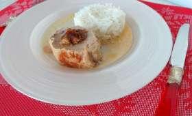 Filet mignon de porc farci au foie gras et aux figues