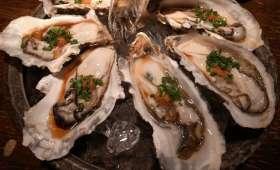 Huîtres à la sauce soja épicée