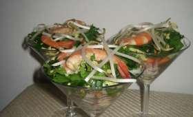 Salade thaï aux crevettes
