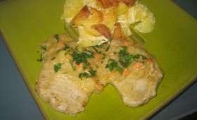 Filet de porc au riesling et gratin dauphinois