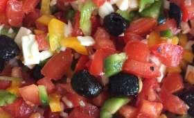 Salade d'inspiration grecque
