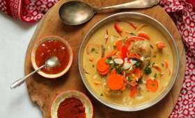 """""""Curry"""" de poulet au chutney de mangue"""