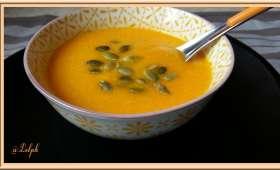 Soupe de Potiron, carottes et Mimolette