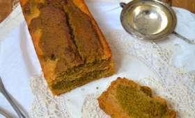 Cake marbré thé matcha - bergamote