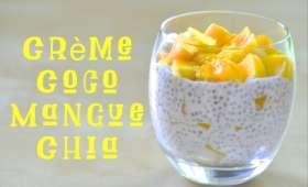 Crème dessert Coco, Mangue et Chia