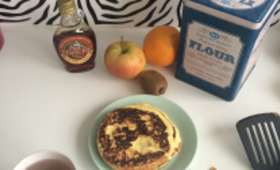 Pancake fondant à la ricotta et aux flocons d'avoine