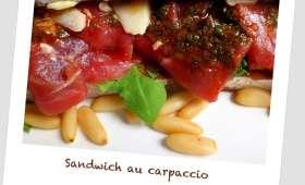 Sandwich Carpaccio Bœuf-Roquette et Pistou