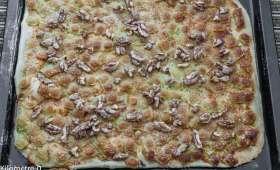 Pizza blanche aux ravioles
