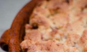 Crumble aux pommes et son cookie au Toblerone