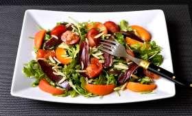 Salade au canard fumé et aux abricots