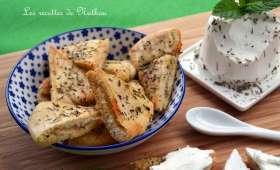 Pains pita grillés à l'huile d'olive et aux herbes grecques