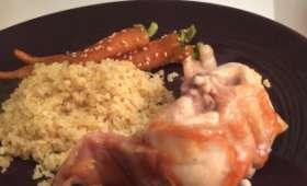Râbles de lapin sauté au wok