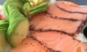 Presque tartare saumon avocat