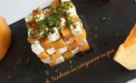 Salade superposée de melon et feta