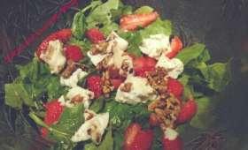 Salade épinards fraises chèvre