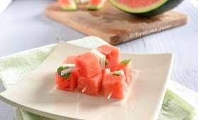 Brochettes de pastèque à la féta