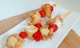 Brochettes Yakitori revisitées emmental et mozzarella