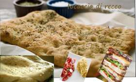 Fougasse au fromage, focaccia