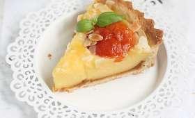 Tarte abricots basilic et citron