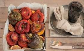 Tomates farcies au boulgour et poivrons farcis au riz à la Turque