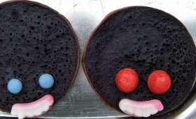 """Pancakes """"Têtes de monstres"""""""