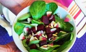 Salade de mâche et betterave rouge