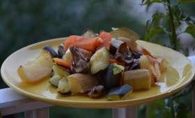 Légumes et champignons rôtis au four