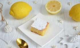 Carrés citron pâte d'amande