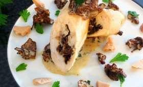 Ballottine de volaille au foie gras et aux girolles