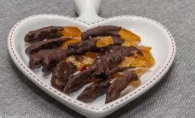 Orangettes maison au chocolat