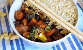 Tofu Hoisin, shiitakés et brocoli