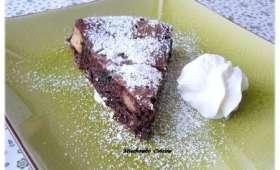 Gâteau meringué au chocolat et à la pomme