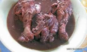 Sauté de dinde façon coq au vin