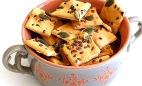 Crackers aux graines à la farine de pois chiche