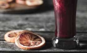 Jus oranges sanguines, chou rouge, betterave et gingembre