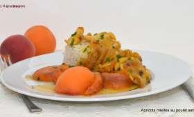 Tajine de poulet au safran et abricots confits