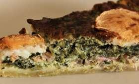 Tarte Épinard, Saumon et Fromage de Chèvre