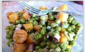 Petits pois-carottes aux lardons fumés