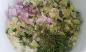 Tzatziki à la coriandre et aux limes