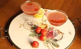 Cocktail aux fraises et au vinaigre balsamique