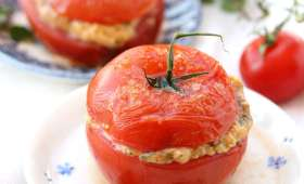 Tomates farcies persillade, mozzarelle et jambon blanc