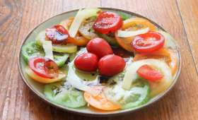 Carpaccio de tomates ultra facile